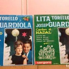 Discos de vinilo: LITA TORELLO -JOSE GUARDIOLA TEMAS DE NADAL 2 EPS. Lote 224957715
