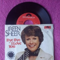 Disques de vinyle: SINGLE IREEN SHEER - BYE BYE I LOVE YOU - 2041 539 - PORTUGAL PRESS (VG+/VG+) EUROVISION 74. Lote 225004115