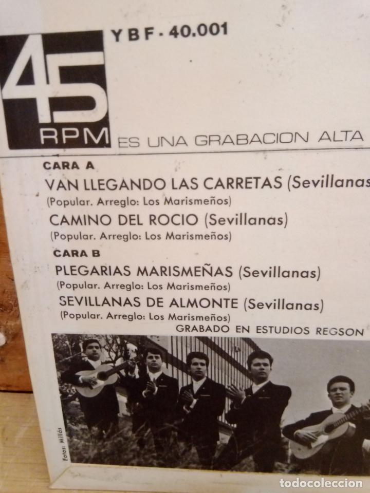 Discos de vinilo: LOS MARISMEÑOS DISCO 4 CANCIONES - Foto 2 - 225014181