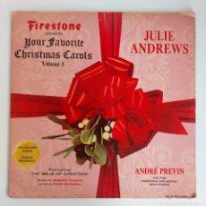 Dischi in vinile: LP JULIE ANDREWS YOUR FAVORITO CHRISTMAS CARLOS- VOL 5. Lote 225016085