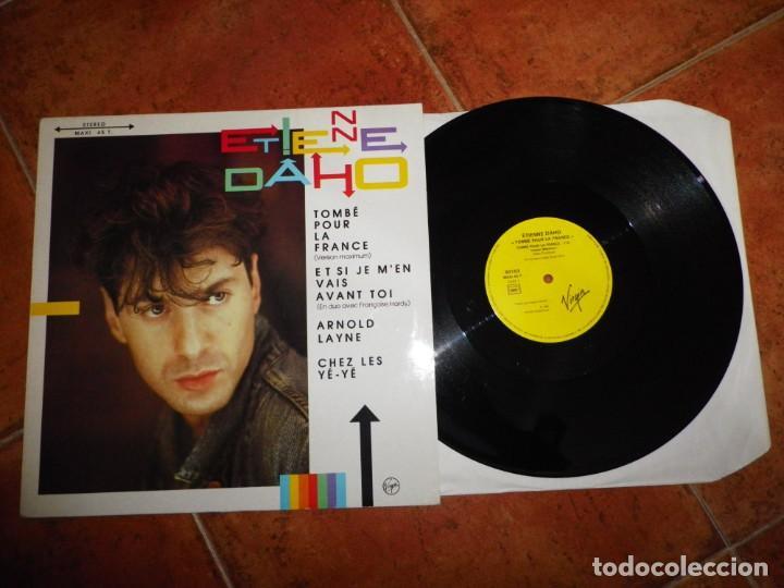 ÉTIENNE DAHO TOMBE POUR LA FRANCE MAXI SINGLE VINILO 1985 FRANCIA DUO FRANÇOISE HARDY 4 TEMAS (Música - Discos de Vinilo - Maxi Singles - Canción Francesa e Italiana)
