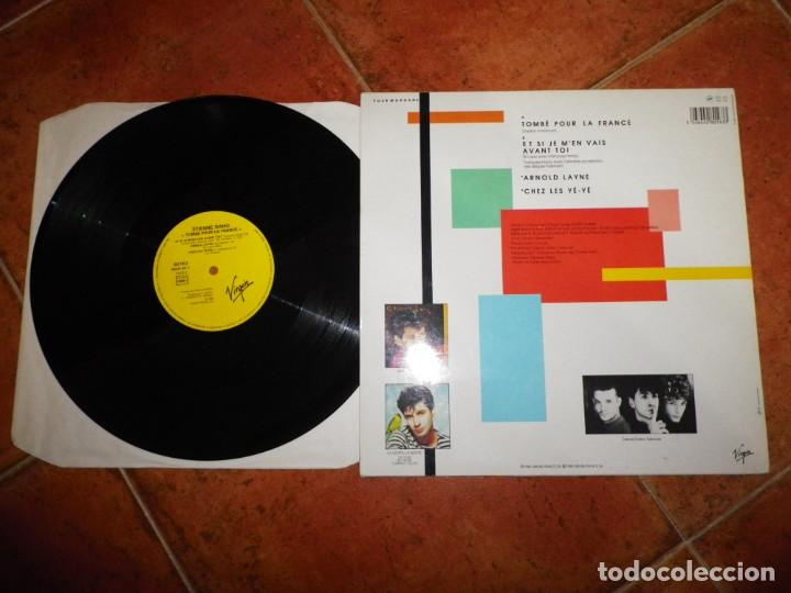Discos de vinilo: ÉTIENNE DAHO Tombe pour la France MAXI SINGLE VINILO 1985 FRANCIA DUO FRANÇOISE HARDY 4 TEMAS - Foto 2 - 225022120