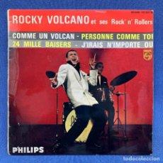 Discos de vinilo: EP ROCKY VOLCANO ET SES ROCK' N' ROLLERS - COMME UN VOLCAN - FRANCIA - AÑO 1961. Lote 225044935
