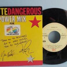 Discos de vinilo: ANTIGUO DISCO VINILO PEQUEÑO ROXETTE DANGEROUS PROMOCIONAL LOS 40. Lote 225047815