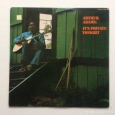 Discos de vinilo: ARTHUR ADAMS – IT'S PRIVATE TONIGHT JAPAN,1977 BLUE THUMB RECORDS. Lote 225063680