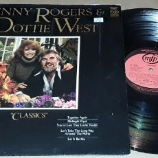 Discos de vinilo: LP - KENNY ROGERS & DOTTIE WEST - CLASSICS - MADE IN ENGLAND - DOTTIE WEST / KENNY ROGERS. Lote 225071392