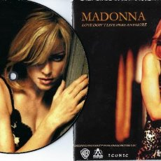 Discos de vinil: MADONNA 7 INCH VINYL SINGLE LOVE DON´T LIVE HERE ANYMORE ONE SIDED PICTURE DISC MADAME X. Lote 225072735
