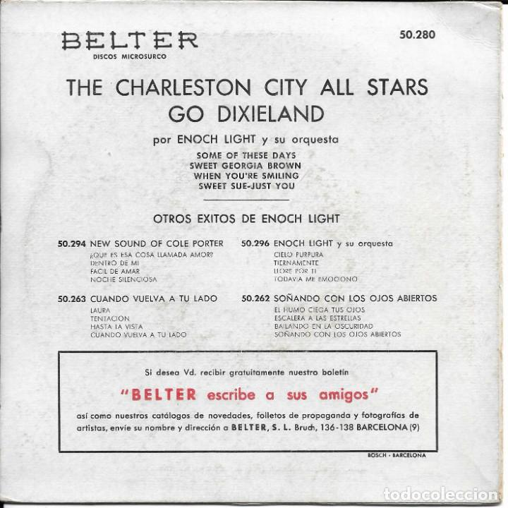 Discos de vinilo: THE CHARLESTON CITY ALL STARS GO DIXIELAND - Foto 2 - 225088098