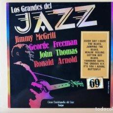 Disques de vinyle: LOS GRANDES DEL JAZZ. GRAN ENCICLOPEDIA DEL JAZZ. Nº 69 - JIMMY MCGRIFF. GEORGE FREEMAN. JOHN THOMAS. Lote 225106927