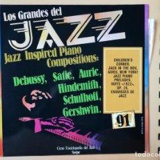 Disques de vinyle: LOS GRANDES DEL JAZZ. GRAN ENCICLOPEDIA DEL JAZZ. Nº 91 - JAZZ INSPIRED PIANO. COMPOSITIONS: DEBUSSY. Lote 225106965