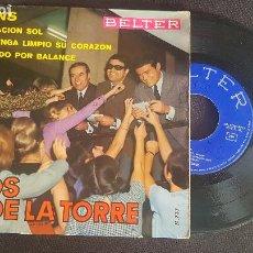 Disques de vinyle: LOS DE LA TORRE-FANS-OPERACION SOL-MANTENGA LIMPIO SU CORAZON-CERRADO POR BALANCE. Lote 225122320