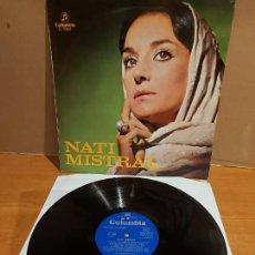 Discos de vinilo: NATI MISTRAL / CON LUIS MARAVILLA Y LOS GEMELOS / LP - COLUMBIA-1969 / MBC. ***/***. Lote 225130578