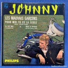 Dischi in vinile: EP JOHNNY HALLYDAY - LES MAUVAIS GARÇONS - FRANCIA - AÑO 1964. Lote 225142350