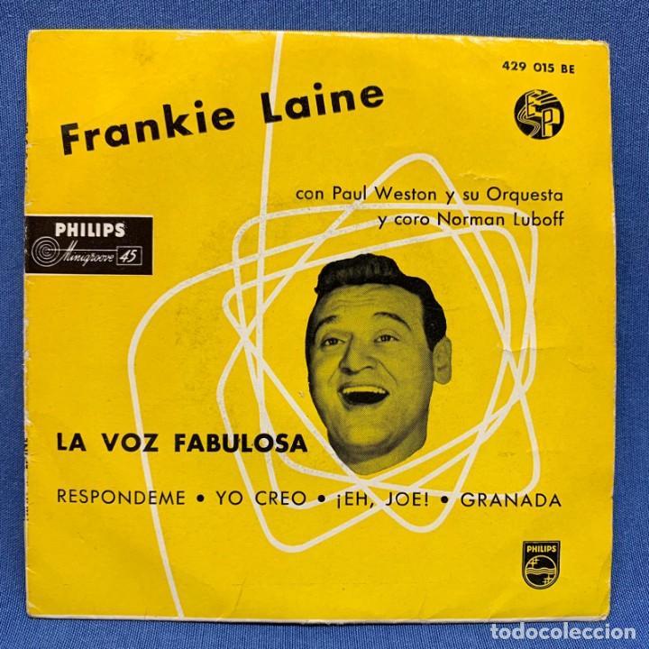 SINGLE FRANKIE LAINE CON PAUL WESTON Y SU ORQUESTA Y CORO NORMAN LUBOFF - ESPAÑA - AÑO 1958 (Música - Discos - Singles Vinilo - Cantautores Extranjeros)