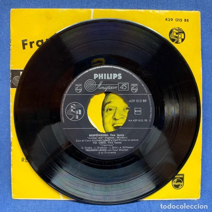Discos de vinilo: SINGLE FRANKIE LAINE CON PAUL WESTON Y SU ORQUESTA Y CORO NORMAN LUBOFF - ESPAÑA - AÑO 1958 - Foto 2 - 225142700
