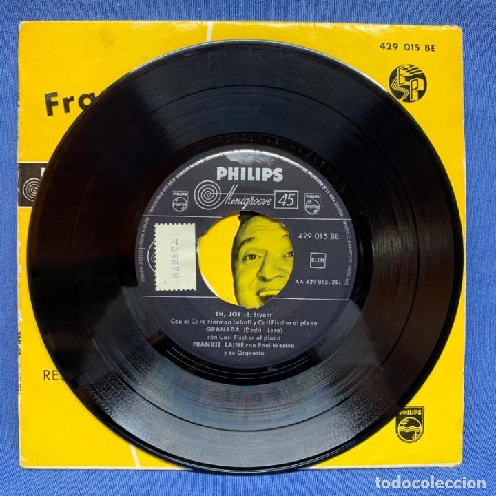 Discos de vinilo: SINGLE FRANKIE LAINE CON PAUL WESTON Y SU ORQUESTA Y CORO NORMAN LUBOFF - ESPAÑA - AÑO 1958 - Foto 3 - 225142700