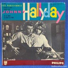 Disques de vinyle: SINGLE JOHNNY HALLYDAY - RETIENS LA NUIT - FRANCIA - AÑO 1962. Lote 225147107