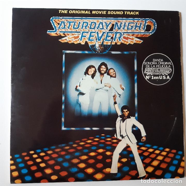 SATURDAY NIGHT FEVER - BANDA SONORA - SPAIN 2 LP 1977 + 2 ENCARTES- BEE GEES. (Música - Discos - LP Vinilo - Bandas Sonoras y Música de Actores )