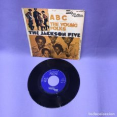 Discos de vinilo: SINGLE ABC THE YOUNG FOLKS -- THE JACKSON FIVE -- MADRID 1970. Lote 225156091