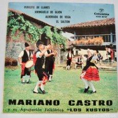 Discos de vinil: MARIANO CASTRO Y SU AGRUPACIÓN ARTÍSTICA LOS XUSTOS. 4 TEMAS. BAILES TÍPICOS. 45RPM. COLUMBIA, 1964. Lote 225159265