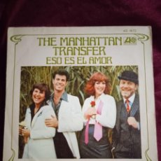 Discos de vinilo: THE MANHATTAN TRANSFER. ESO ES EL AMOR. Lote 225163222