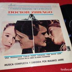 Discos de vinilo: IL DOCTOR ZIVAGO ZHIVAGO BSO OST LP 1966 MGM STEREO ESPAÑA SPAIN. Lote 225169065