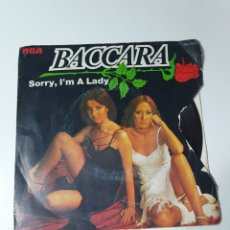 Dischi in vinile: BACCARA - SORRY, I' A LADY / LOVE YOU TILL I DIE, RCA VICTOR 1977.. Lote 225169165