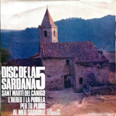 Discos de vinilo: DISC DE LA SARDANA 5 - SARDANES (EP) AÑO 1965 - DISCOGRÁFICA EDIGSA CM 99 - COBLA BARCELONA. Lote 225178290