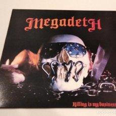 Disques de vinyle: MEGADETH - KILLING IS MY BUSINESS... (LP REEDICIÓN) NUEVO. Lote 266740393