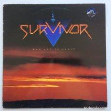 Discos de vinilo: SURVIVOR – TOO HOT TO SLEEP SWEDEN 1988 SCOTTI BROS RECORDS. Lote 222505377