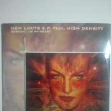 Discos de vinilo: DISCO VINILO NEW LIMITS E.P. FEAT. HIGH DENSITY SCREAM IN MY HEART - 230G. Lote 225193695