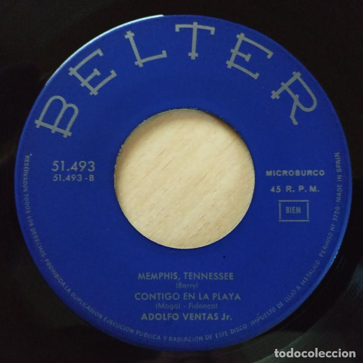 Discos de vinilo: ADOLFO VENTAS JR. - MANOLI / LA CASA DEL SOL NACIENTE / MEMPHIS TENESSEE / CONTIGO EN LA PLAYA 1965 - Foto 4 - 225197310
