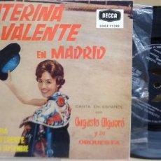 Discos de vinilo: CATERINA VALENTE EN MADRID EL DE 4 CANCIONES. Lote 225204492
