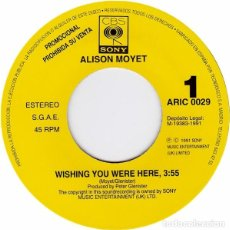 Discos de vinilo: ALISON MOYET – WISHING YOU WERE HERE. Lote 225206470