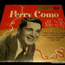 Discos de vinilo: PERRY COMO (EP. AÑOS 50) (DIFICIL) PRISIONERO DE AMOR - ORQUESTA RUSS CASE, LLOYD SHAFFER, H. RENE. Lote 225208720