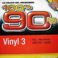 Discos de vinilo: PG2 / KIKE BOY – 100% 90'S VOL. 3 (VINYL 3). Lote 225215351