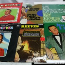 Discos de vinilo: LOTE 6 LPS DE JIM REEVES, THE INTIMATE, GOLDEN RECORS, THE BEST, ...COUNTRY AÑOS 60. Lote 225219330