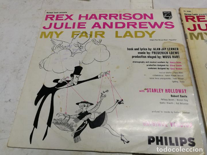 Discos de vinilo: 2 LP MY FAIR LADY REX HARRISON JULIE ANDREWS EDCIONES PHILIS Y COLUMBIA USA 1958 - Foto 2 - 225220187