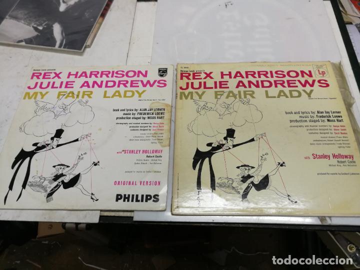 2 LP MY FAIR LADY REX HARRISON JULIE ANDREWS EDCIONES PHILIS Y COLUMBIA USA 1958 (Música - Discos - LP Vinilo - Bandas Sonoras y Música de Actores )