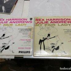Discos de vinilo: 2 LP MY FAIR LADY REX HARRISON JULIE ANDREWS EDCIONES PHILIS Y COLUMBIA USA 1958. Lote 225220187