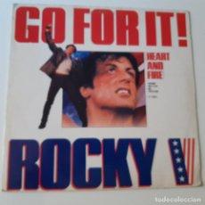 Discos de vinilo: ROCKY V - BANDA SONORA- EUROPE MAXI SINGLE 1990- VINILO COMO NUEVO.. Lote 225233262