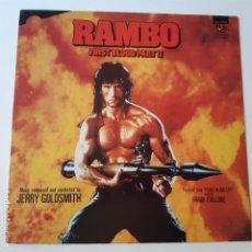 Discos de vinilo: RAMBO ACORRALADO PARTE II - RAMBO FIRST BLOOD II - BANDA SONORA- UK LP 1985 - EXC. ESTADO.. Lote 225234340