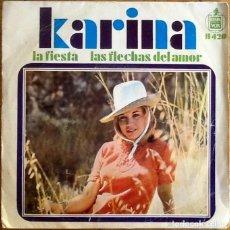 Discos de vinilo: KARINA : LA FIESTA [ESP 1968] 7'. Lote 225239982