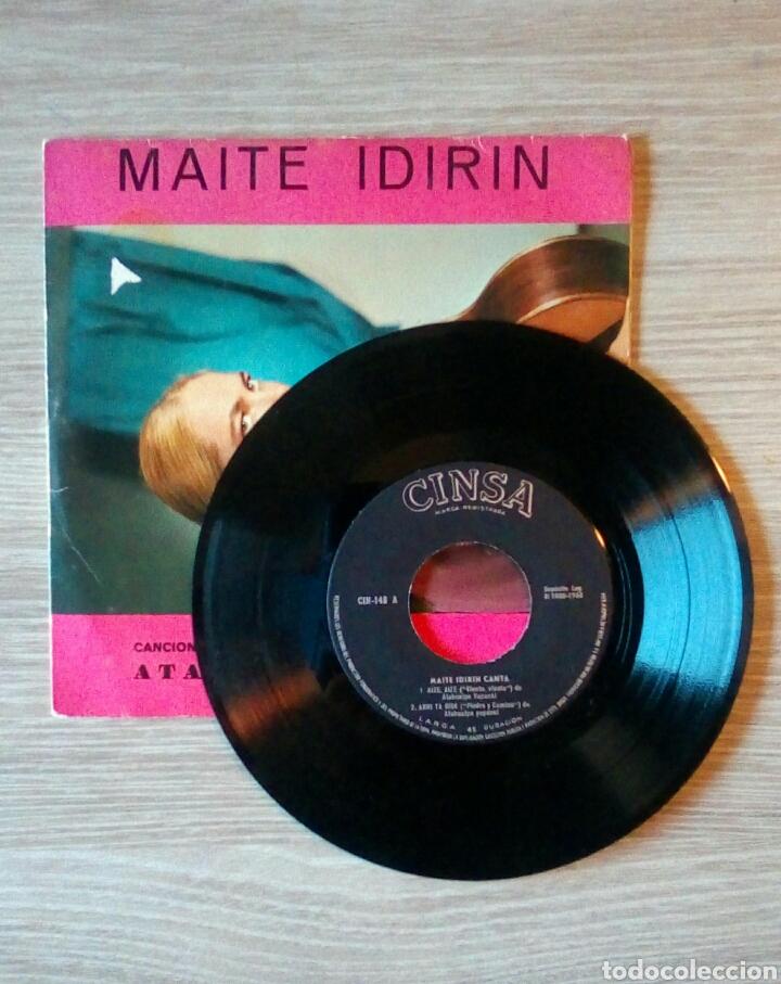 Discos de vinilo: Maite Idirin - Canciones de Atahualpa Yupanki Euskaraz, Cinsa CIN-148, 1968. Spain. - Foto 3 - 225244680