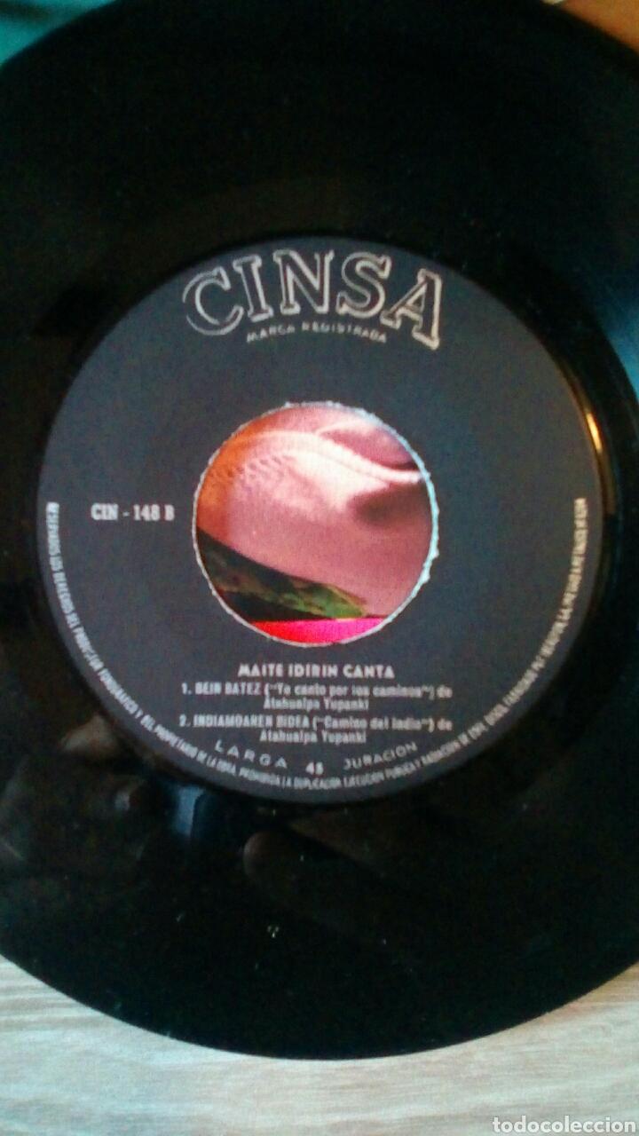 Discos de vinilo: Maite Idirin - Canciones de Atahualpa Yupanki Euskaraz, Cinsa CIN-148, 1968. Spain. - Foto 5 - 225244680