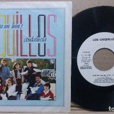 Discos de vinilo: LOS CHIQUILLOS / ¡QUE NO ERA UN LEON! / SINGLE 7 INCH. Lote 225246727