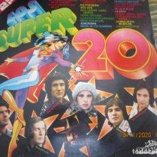 Discos de vinilo: LOS SUPER 20 DOBLE LP - VARIOS INTERPRETES - EDICION ESPAÑOLA - POLYSTAR RECORDS 1976 -ESTEREOB. Lote 225261057