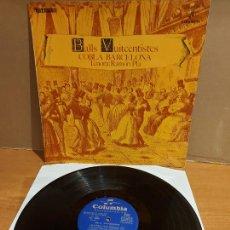 Discos de vinilo: COBLA BARCELONA / BALLS VUITCENTISTES / TENORA RAMON PLÀ / LP - COLUMBIA-1969 / MBC. ***/***. Lote 225262940