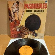 Discos de vinilo: RUDY VENTURA - ORQUESTA Y COROS / PASODOBLES / LP - OLYMPO-1982 / MBC. ***/***. Lote 225263995