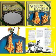 Discos de vinilo: MONTY PYTHON - MATCHING TIE HANDKERCHIEF 1975, RARA 1ª EDIC ORG USA CON TROQUELADO CIRCULAR, TODO EX. Lote 225285860